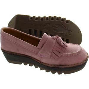 Fly London Juno women 40 pink suede thick platform